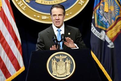 FILE - NY Andrew Cuomo 1-8-2020