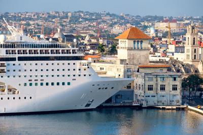 FILE - Cuba cruise ship