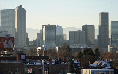 FILE - Denver, Colorado Skyline