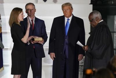 FILE - Trump Supreme Court Barrett