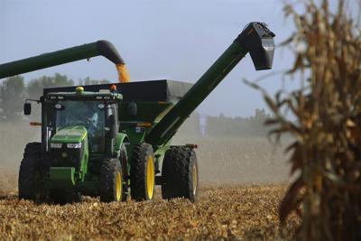 FILE - Central Illinois farm, corn, Illinois, farming, harvest