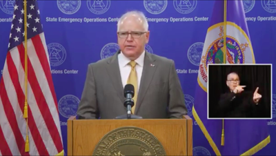 Gov. Tim Walz Jan. 6 2021