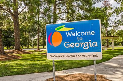 State sign for Georgia