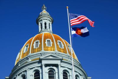 FILE - Colorado Capitol Flag