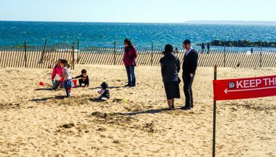 FILE - NY beach 4-1-2021