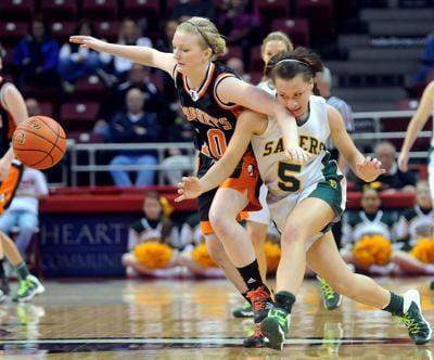 FILE - Illinois, high school basketball, IHSA Girls Class 2A Basketball
