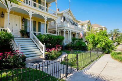 FILE - Galveston Texas neighborhood homes