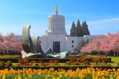 FILE — Oregon Capitol in springtime