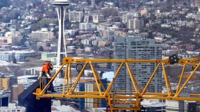 FILE —Seattle construction crane