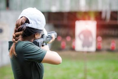 FILE - Firearms gun training