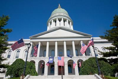 FILE - Maine's state capitol