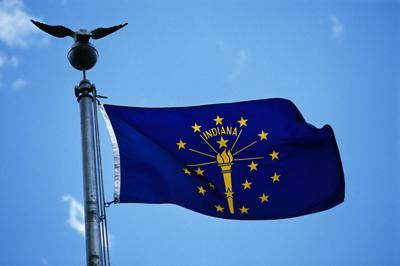 FILE - Indiana state flag