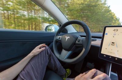 FILE - Driverless car autonomous vehicles