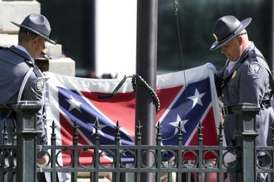 FILE - Confederate Flag South Carolina