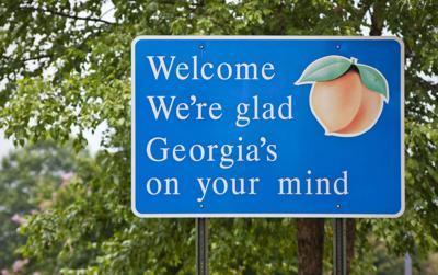 FILE - Welcome to Georgia sign