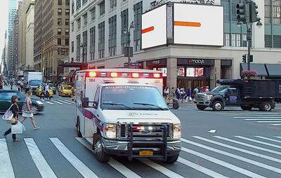 FILE - NY ambulance, Manhattan
