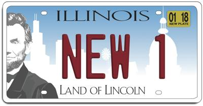 FILE - Illinois License Plate