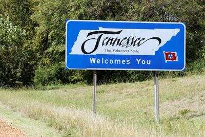 FILE - Tennessee welcome sign
