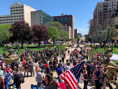Lansing operation haircut protest May 20