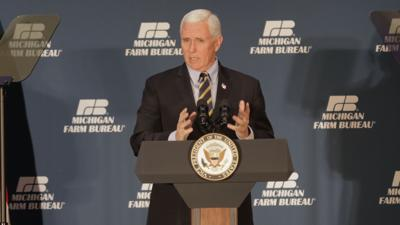 Vice President Mike Pence in Lansing, Mich