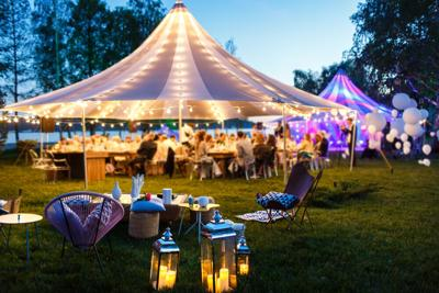 Festival outdoor party