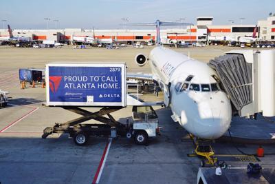 FILE - Delta Airlines Atlanta