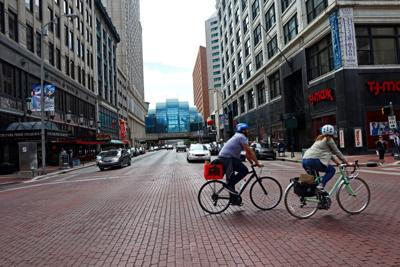 FILE - Downtown Indianapolis