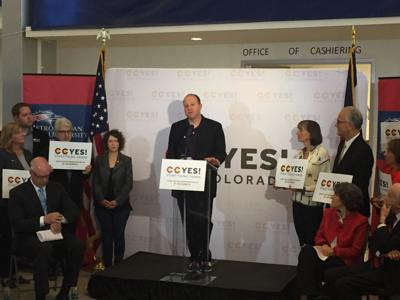 Jared Polis at 'Yes on Prop CC' press conference