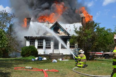 Arson alleged after house burns