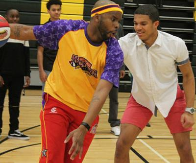 Harlem Wizard demonstrates skills at each Louisa County school