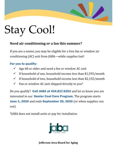 Free fans or AC available for seniors