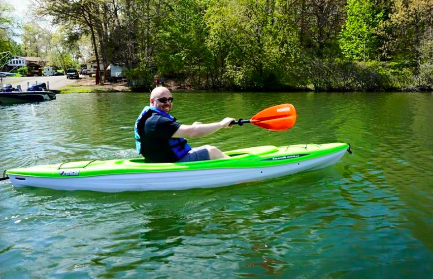 LURE OF LAKE ANNA: Paddling on the lake's placid waters