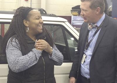 Louisa County High School students' efforts give woman a helping hand