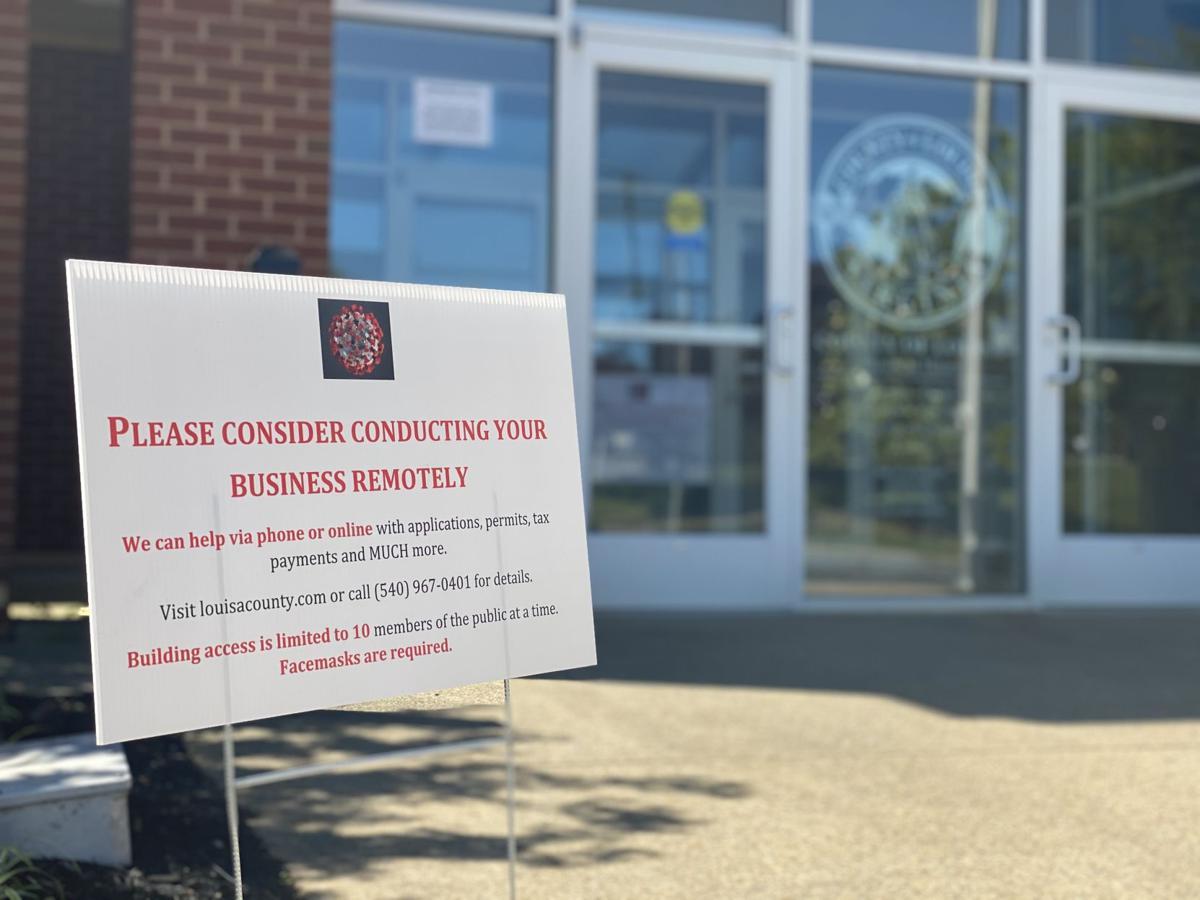 County Admin Building - Coronavirus - Entry Sign