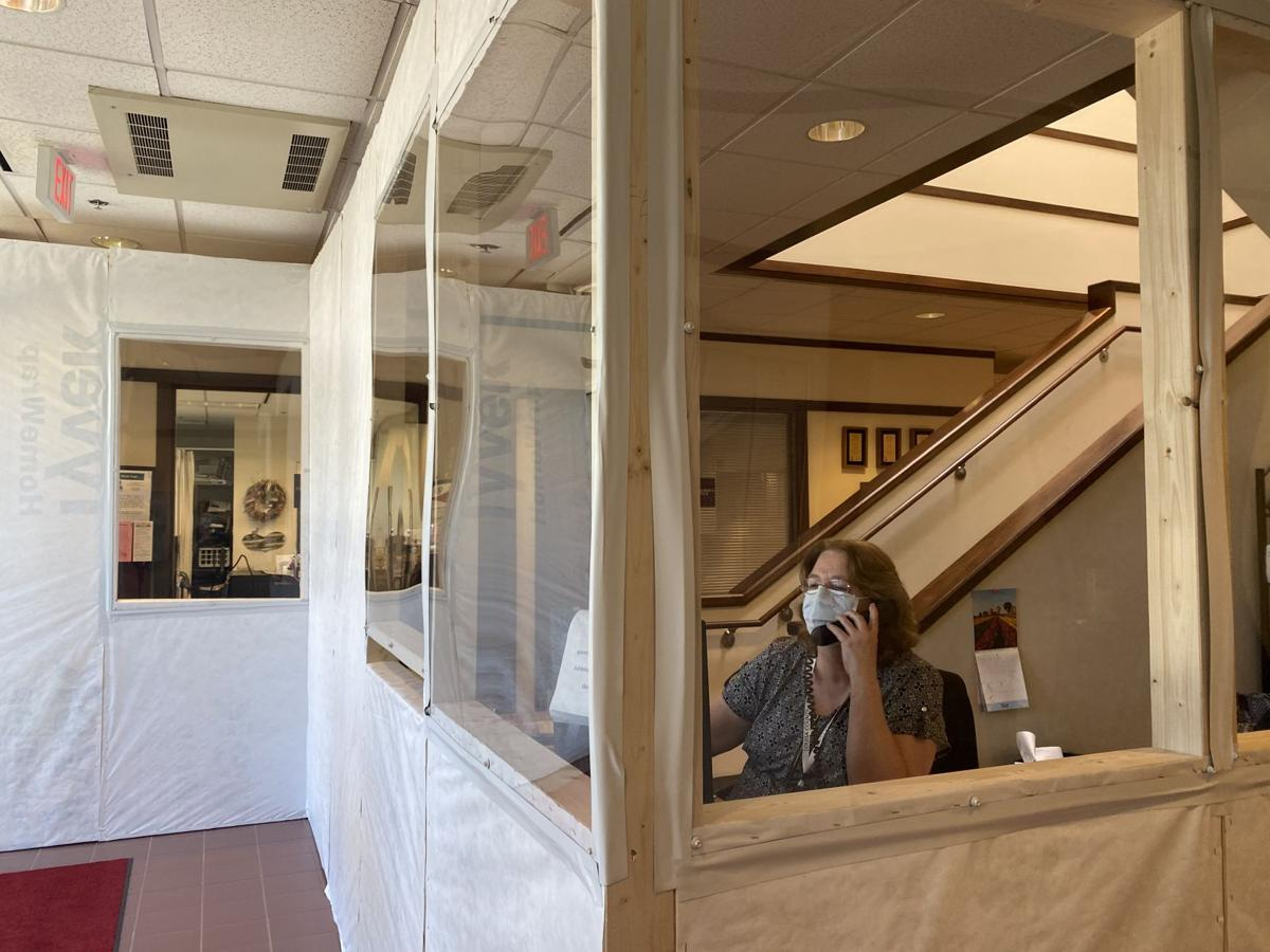 County Admin Building - Coronavirus - Entrance Barrier