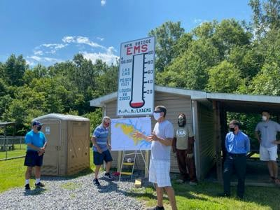 Gauge raised to measure rescue station fundraising