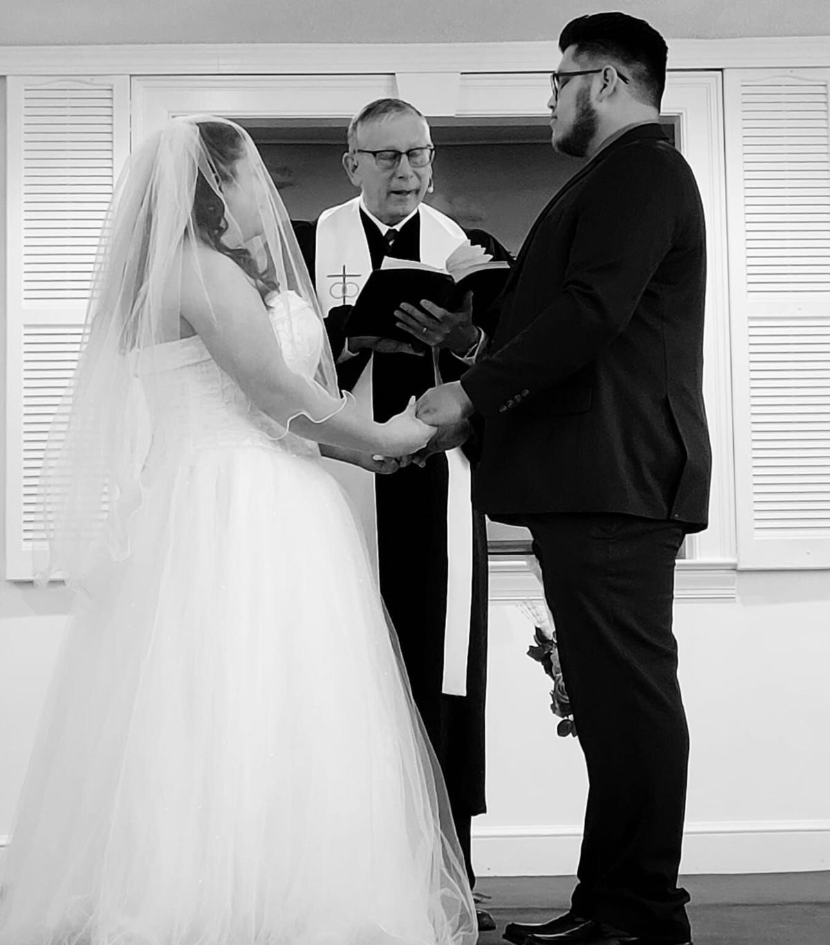 With key documents in hand, couple finally weds