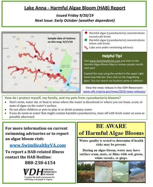 lake anna algae bloom 2020