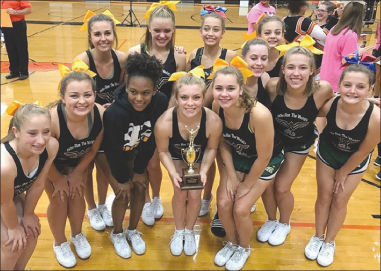 Competition cheerleaders second in district
