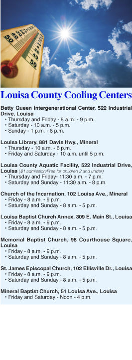 Cooling center locations and hours