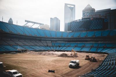 Bank of America Stadium donates soil to parks