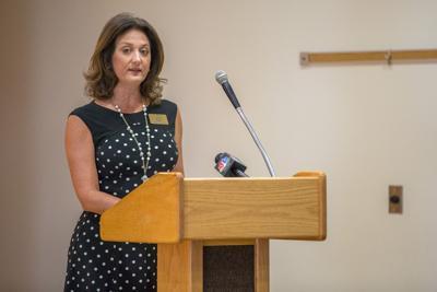 Melissa Merrell delivers speech