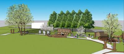 Veterans park concept plans