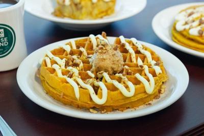 Metro Diner pumpkin waffle