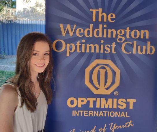 Lelia Maske wins Weddington Optimist Club Scholarship