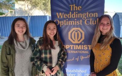 Weddington Optimist Club announces oratorical winners