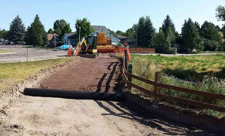 Greenway construction photo