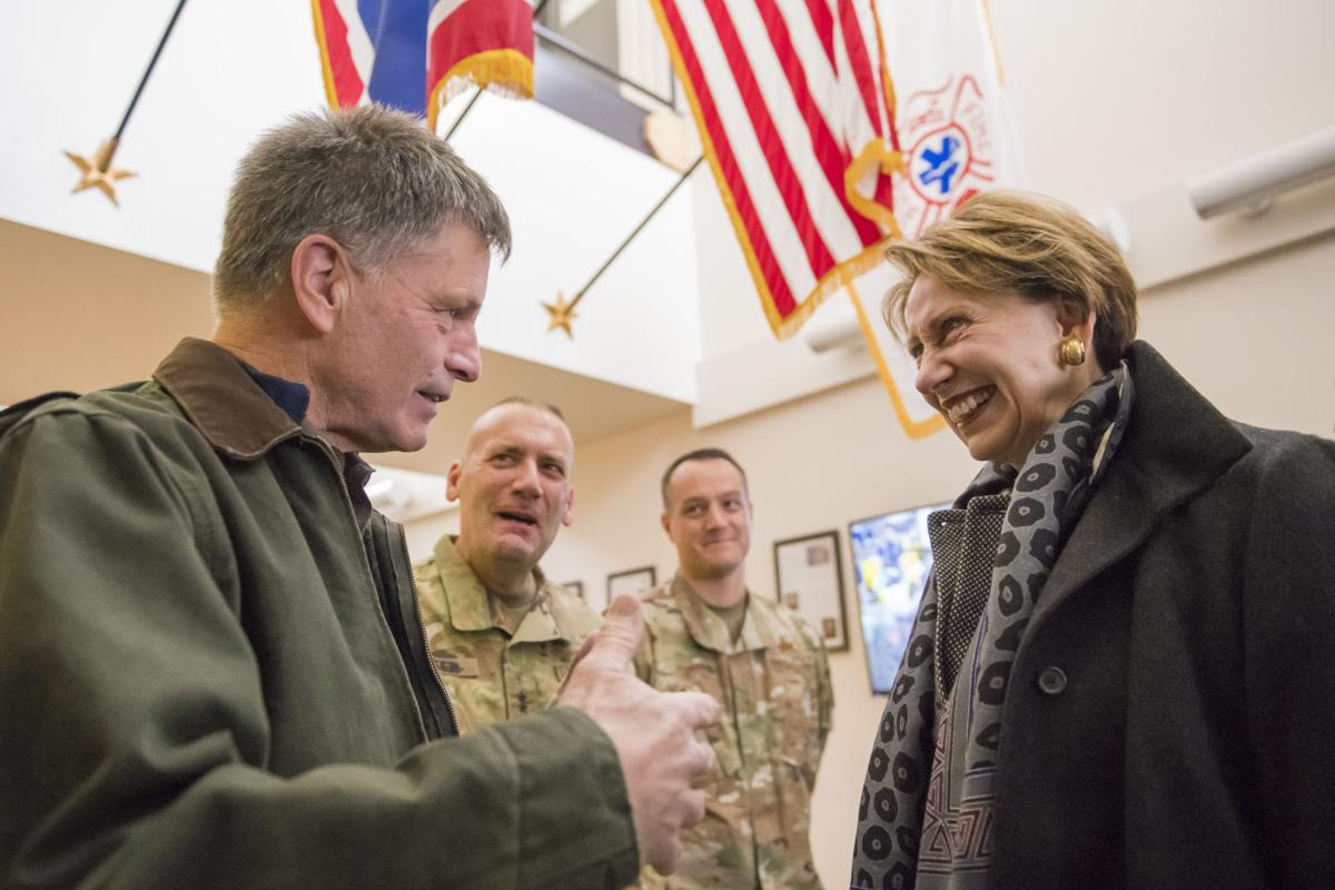 Wyoming Governor Mark Gordon and Secretary of the Air Force Barbara Barrett