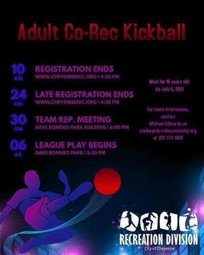 Co-rec kickball league graphic
