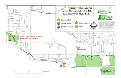 """Spring into Green"" 2019 Route Map"